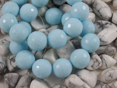 Light Blue Faceted (Synthetic) Turquoise Bead Strand