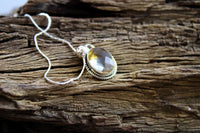 Citrine Pendant (.925 Sterling Silver)
