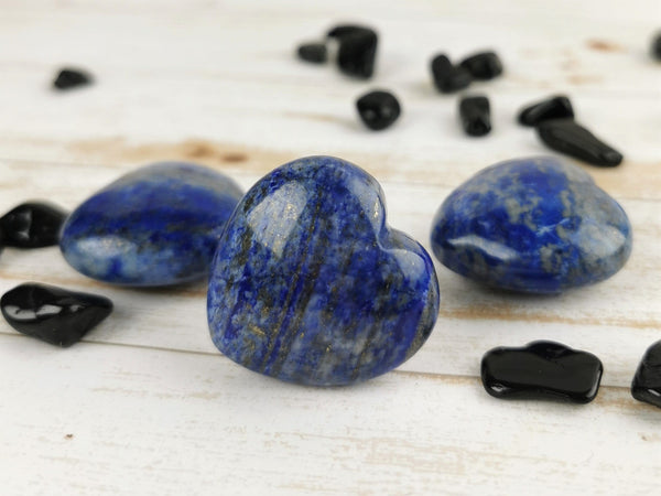 Lapis Lazuli Carved Hearts