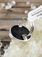 Large Blue Goldstone Ring