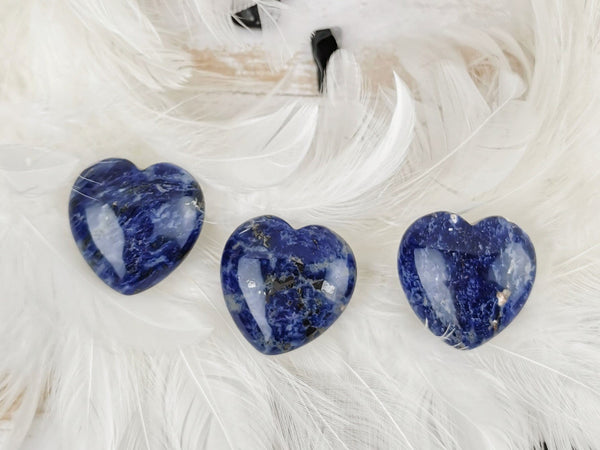 Sodalite Carved Hearts