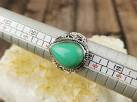 Wide Band Chrysoprase Ring