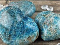 Blue Apatite Hearts, Medium