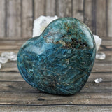 Blue Apatite Hearts, Large
