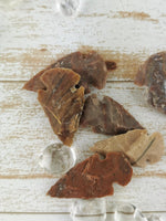 Carved Jasper Arrowheads, Assorted