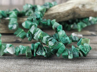 Greenlandite Chip Beads