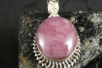 Star Ruby Pendant in Sterling Silver
