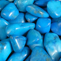 Blue Howlite 1 lb portion Tumbled (Dyed)