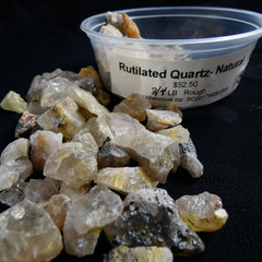 Rutilated Quartz Chips 12.5 oz Portion