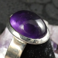 Amethyst Sterling Silver Ring (size 7.5 - 8)