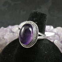 Amethyst Sterling Silver Ring (size 7 - 7.5)