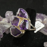 Amethyst Sterling Silver Ring (size 8)