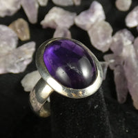 Amethyst Sterling Silver Ring (size 10)