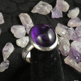 Amethyst Sterling Silver Ring (size 9)