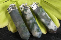 Moss Agate Point Pendant
