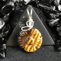 Tiger's Eye Flower Pendant (305)
