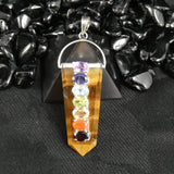 Tiger's Eye Point Chakra Pendant (391)