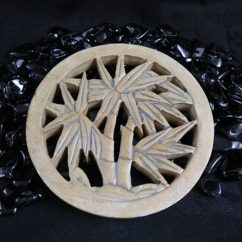 Soapstone Carved Bamboo Coaster