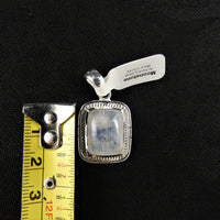 Moonstone in Sterling Silver (rectangle)