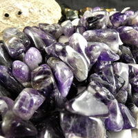 Chevron Amethyst Bead Strands(continuous rough)