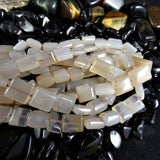 Chalcedony Bead Strands(small square)