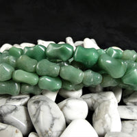 Green Aventurine Bead Strands(bone shaped)