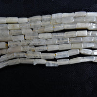 Peachy Quartz Bead Strands(rectangle)