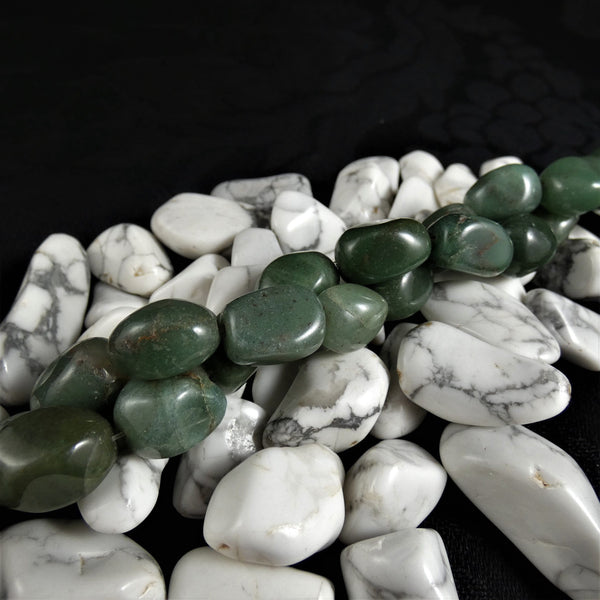 Green Aventurine Nugget Bead Strands