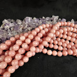 Pink(dyed)Opal Bead Strands(8mm round)