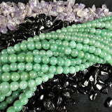 Green Aventurine Bead Strand(round 2 colors)