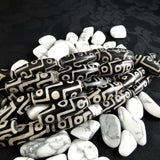 Etched Black Agate Bead Strands(large marquise)