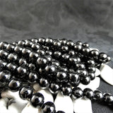 Genuine Black Tourmaline Bead Strands(10mm round)
