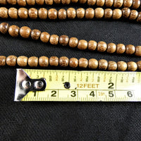 Natural High Quality Wooden Bead Strands(5mm round)