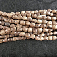 Natural Wood Bead Strands(barrel)