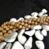 Brown Marble Bead Strands(6-8mm round)