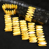 Yellow Mother of Pearl Stretch Bracelets (Dyed) (Various)