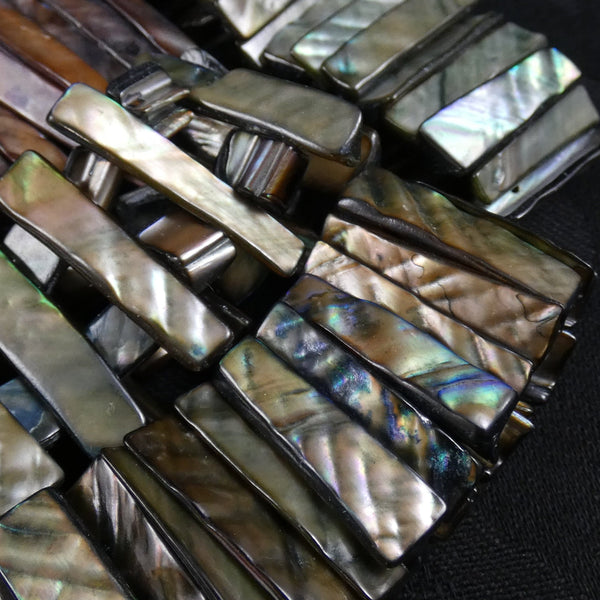 Dusty Metallic Mother of Pearl Stretch Bracelets (Dyed) (Various)