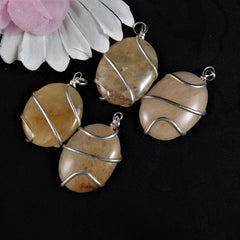 Oval Stone Pendants(various)