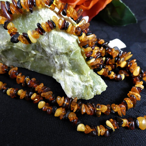 Baltic Amber Chip Necklace