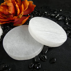 Small Selenite Clearing Plate