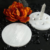 Large Selenite Clearing Plate