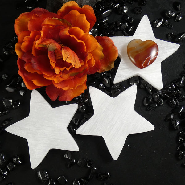 Selenite Star Plate