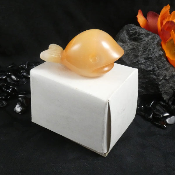 USSR Selenite Carving: Whale (Various)
