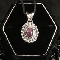 Star Ruby Sterling Silver Pendant (773)