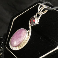 Faceted & Star Ruby Sterling Silver Pendant (781)