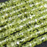 Peridot Polished Heishi Beads (4mm)