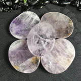 Flat Amethyst Worry Stone (5 Pack) (805)