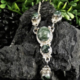 Seraphinite Necklace & Earrings Set
