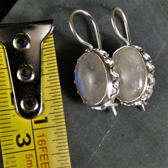 Moonstone Earrings in Sterling Silver(various)
