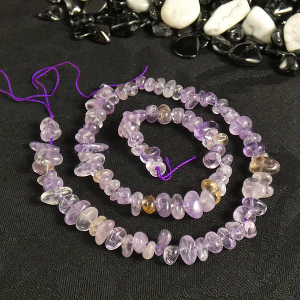 Ametrine Tumbled Chip Beads (various)